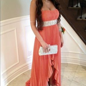 PROM/MADE OF HONOR DRESS CORAL XS